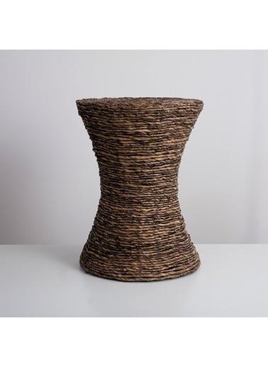 Chakra Ladette Ahşap Tabure 37x49,5 cm Kahve Kahve